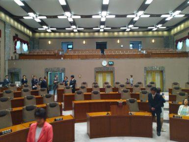 議長席から見た議員席