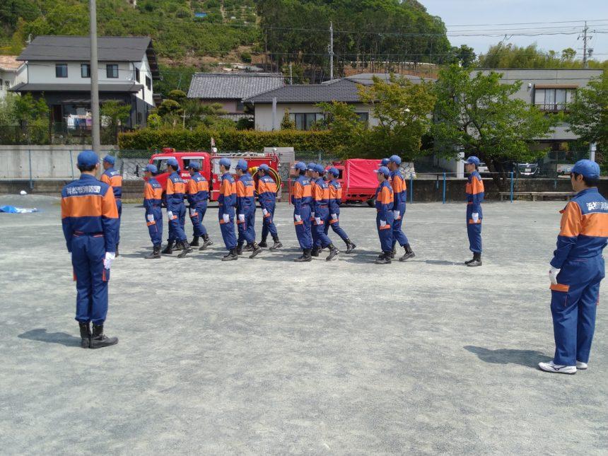消防団礼式訓練